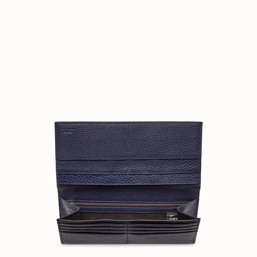 FENDI PORTEFEUILLE CONTINENTAL - Portefeuille en cuir bleu - view 3 detail