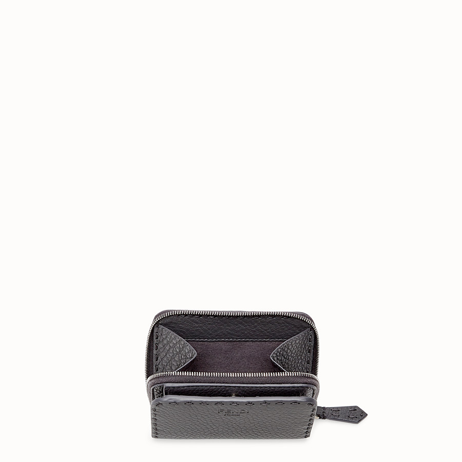 FENDI MEDIUM ZIP-AROUND - Grey leather wallet - view 3 detail