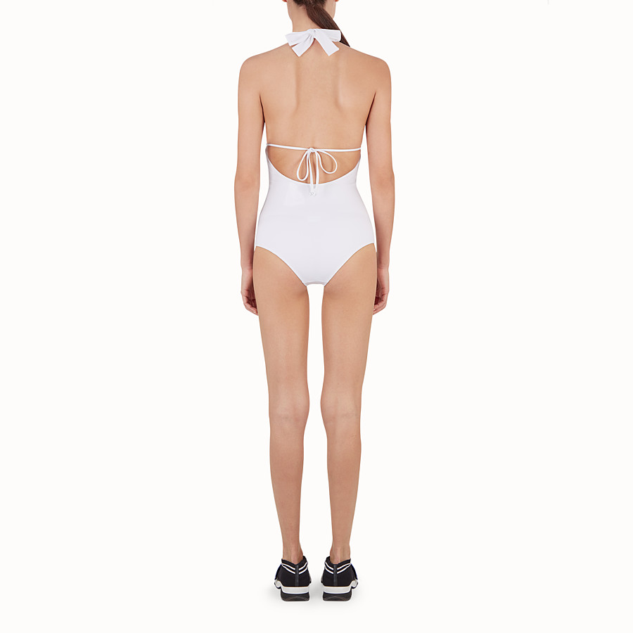 FENDI ONE-PIECE SWIMSUIT - White tech fabric swimsuit - view 3 detail