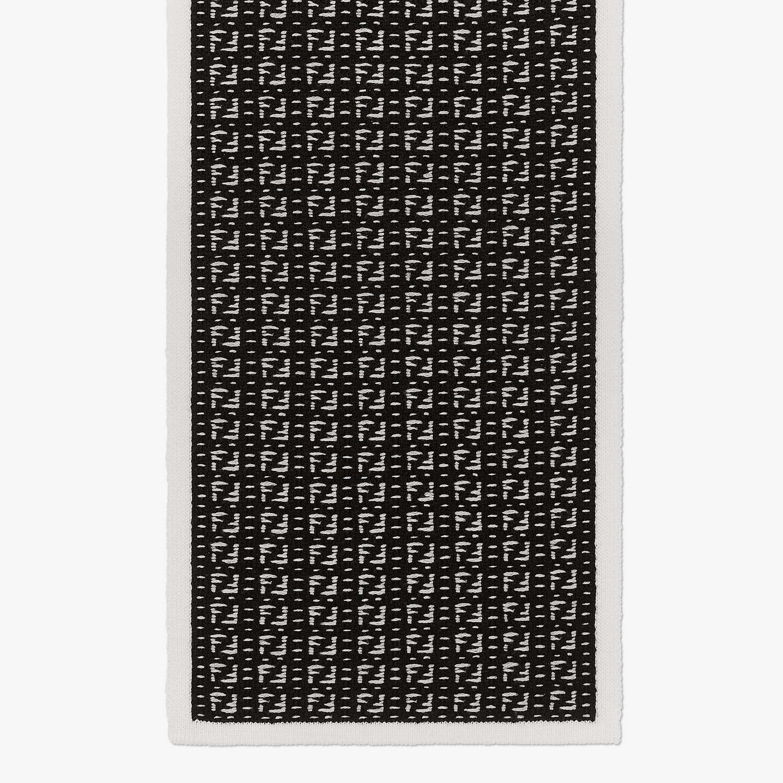 FENDI SCARF - Black woven wool scarf - view 1 detail