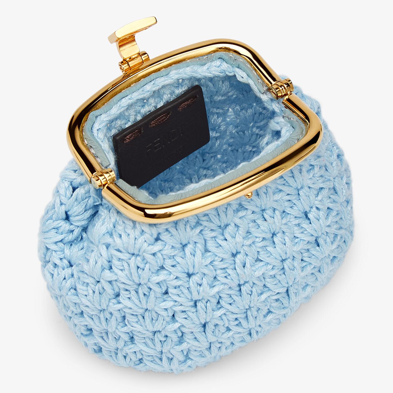 FENDI COIN PURSE - Light blue lace coin purse - view 3 detail