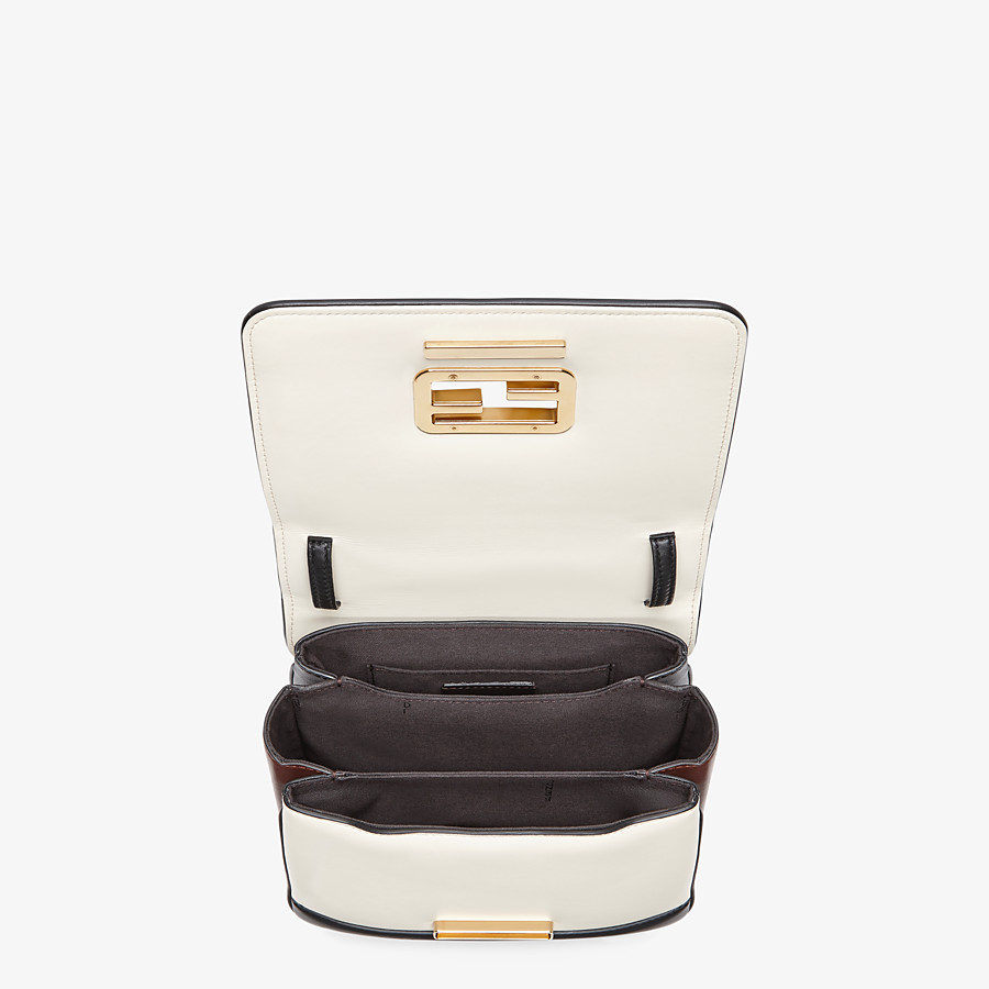 FENDI FENDI ID SMALL - Black leather bag - view 4 detail