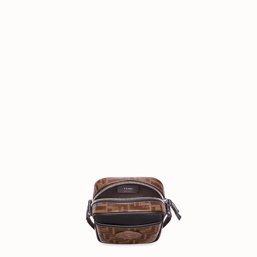 FENDI SMALL MESSENGER - Brown fabric cross-body - view 4 detail
