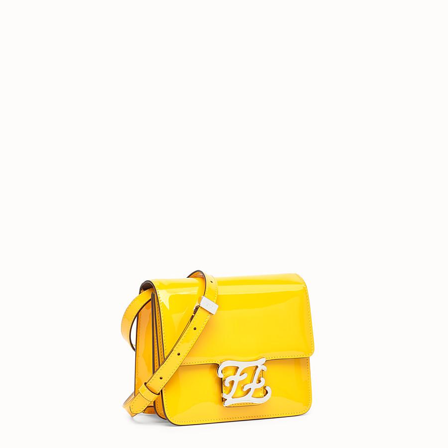 FENDI KARLIGRAPHY - Yellow patent leather bag - view 2 detail