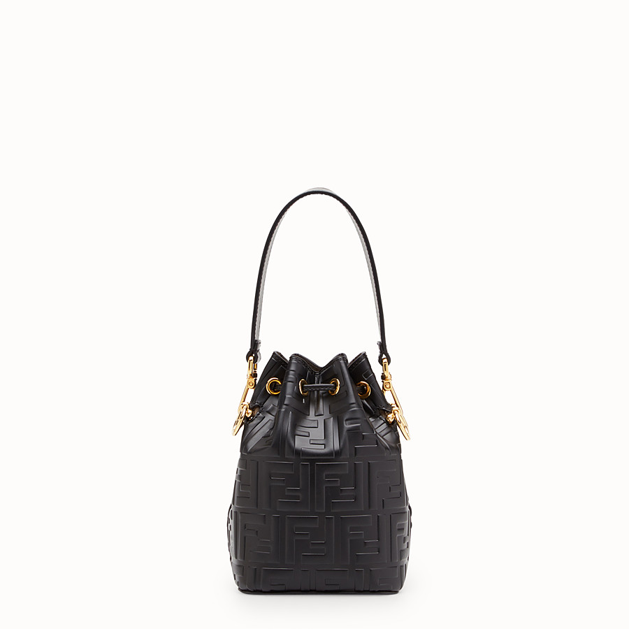 FENDI MON TRESOR - Black leather mini-bag - view 3 detail