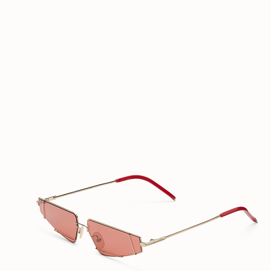 b376404be297a Gold and red sunglasses - FENDIFIEND