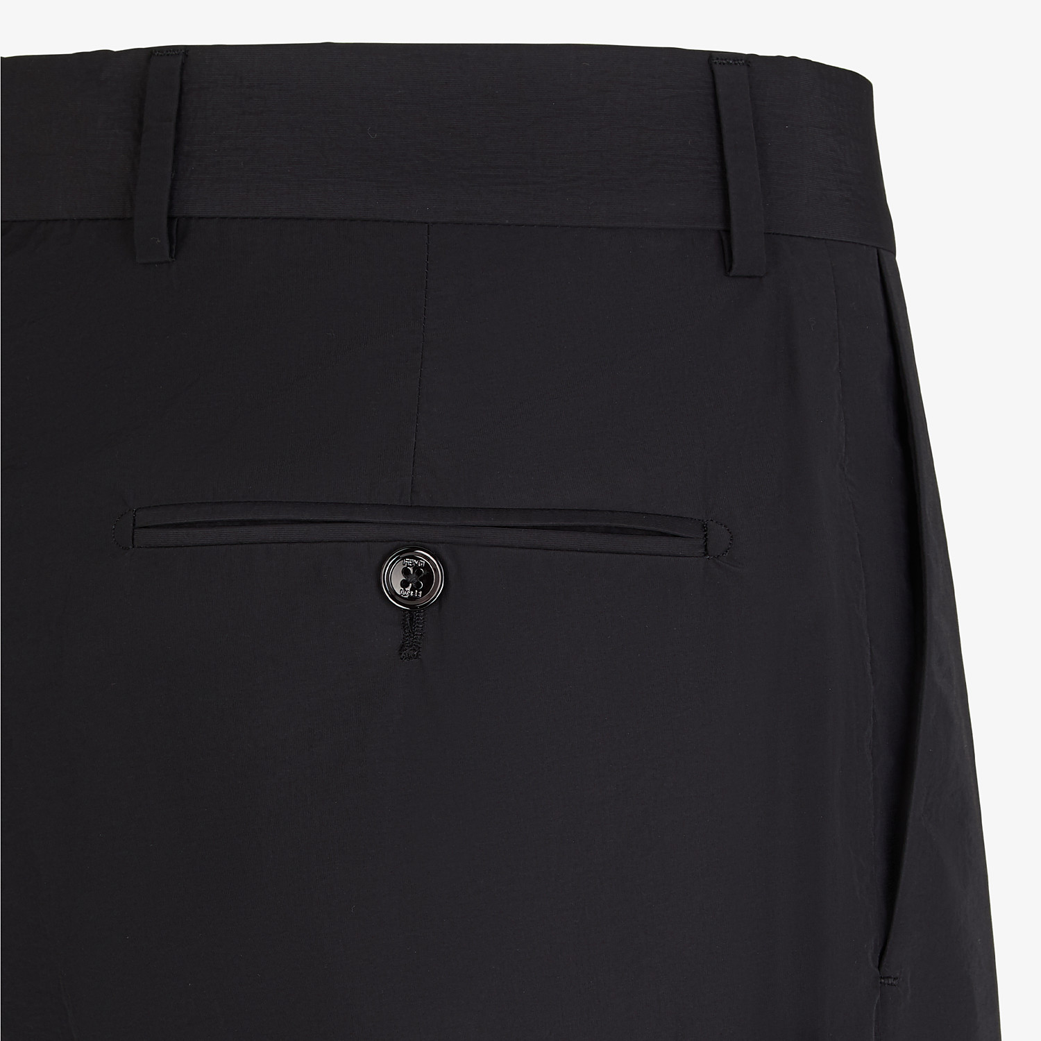 FENDI BERMUDAS - Black nylon and cotton trousers - view 3 detail