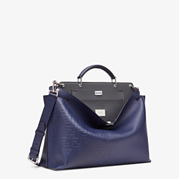 FENDI PEEKABOO ICONIC ESSENTIAL - Blue calfskin bag - view 2 thumbnail