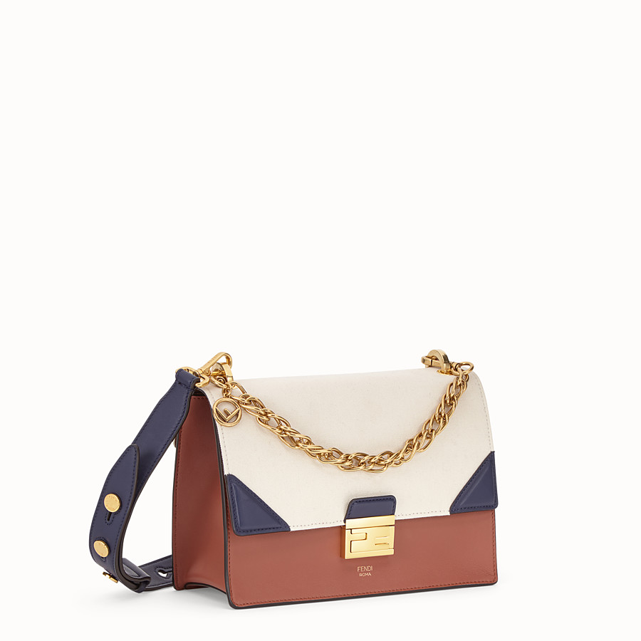 FENDI KAN U - Multicolour canvas and leather bag - view 2 detail