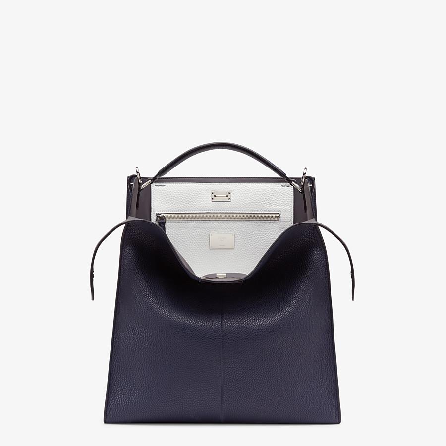 FENDI PEEKABOO X-LITE FIT - Blue Romano leather bag - view 1 detail