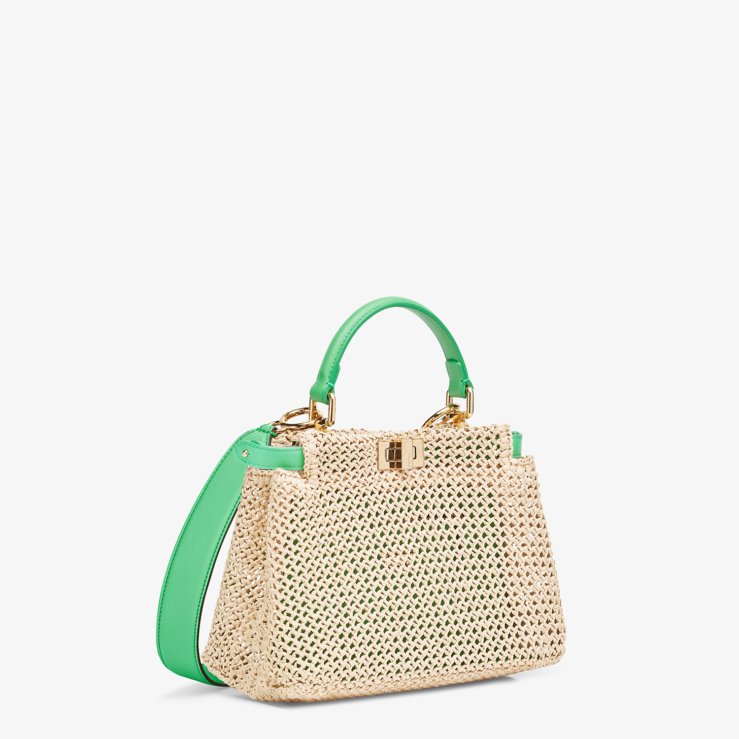 FENDI PEEKABOO ICONIC MINI - Natural raffia bag - view 3 detail