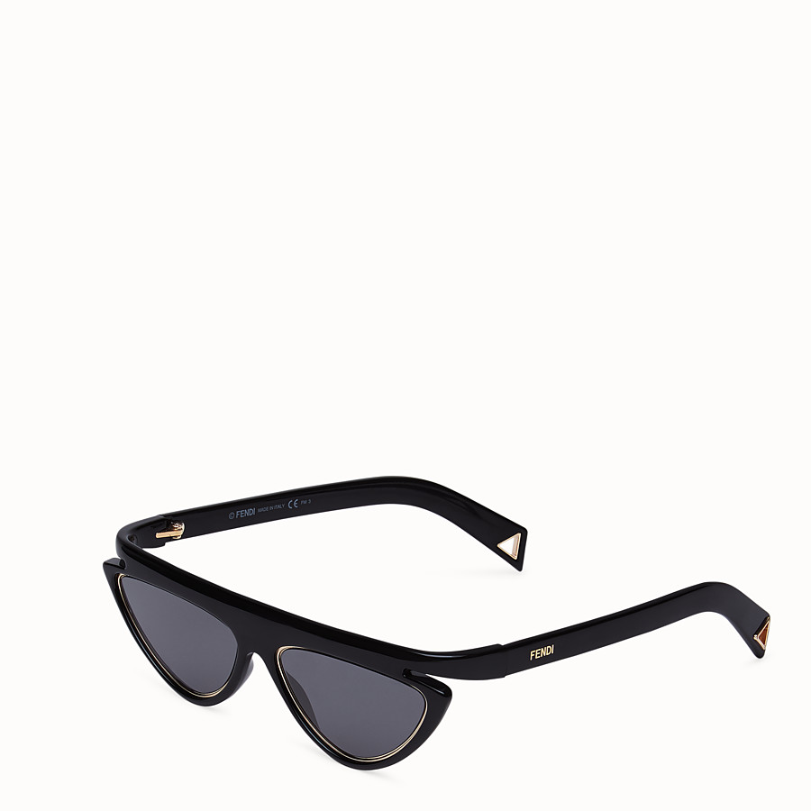 FENDI FFLUO - Black sunglasses - view 2 detail