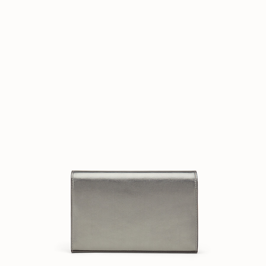 FENDI WALLET ON CHAIN - Grey leather mini-bag - view 3 detail