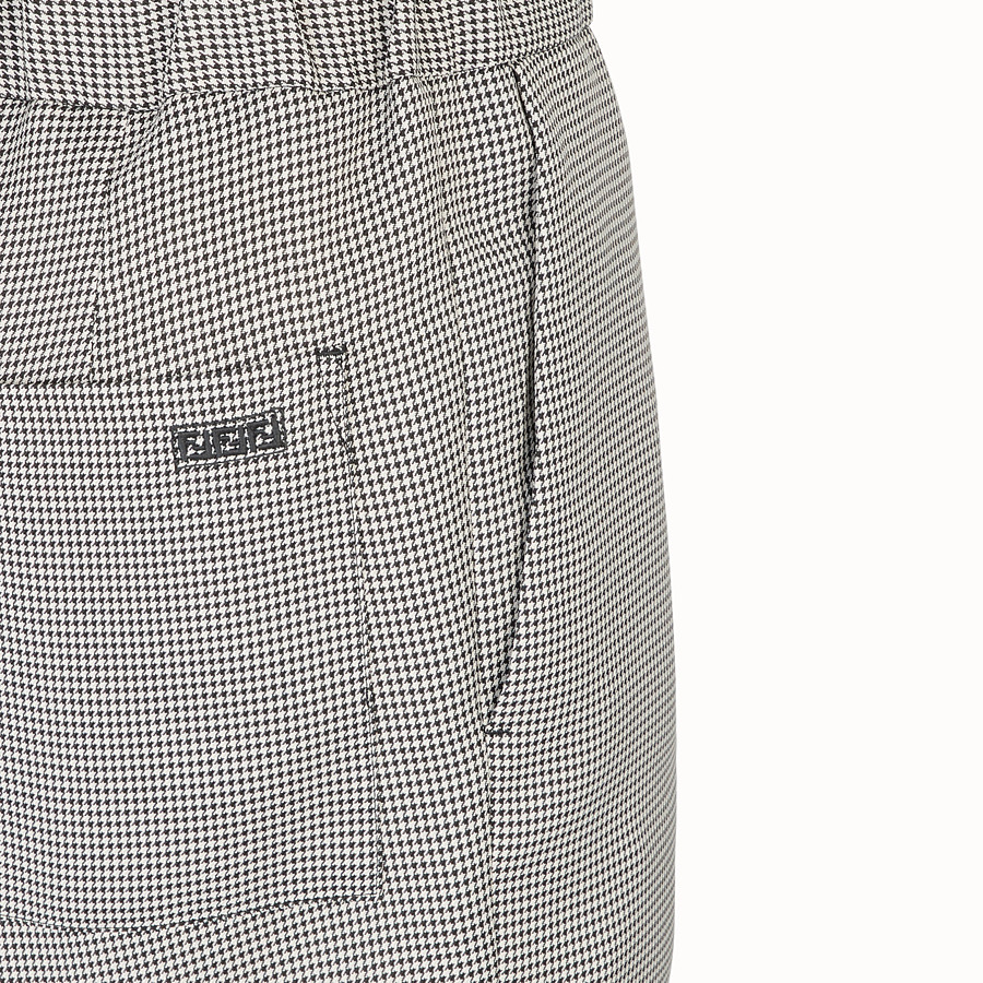 FENDI TROUSERS - Grey fabric trousers - view 3 detail