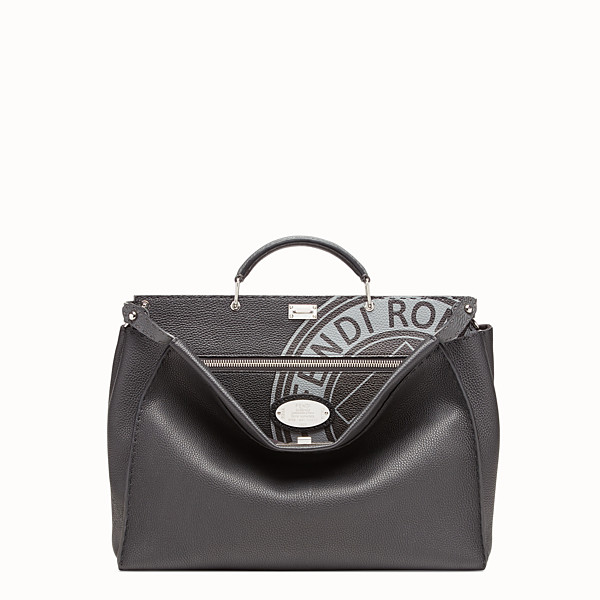 FENDI PEEKABOO REGULAR - Bolso de piel negro - view 1 small thumbnail