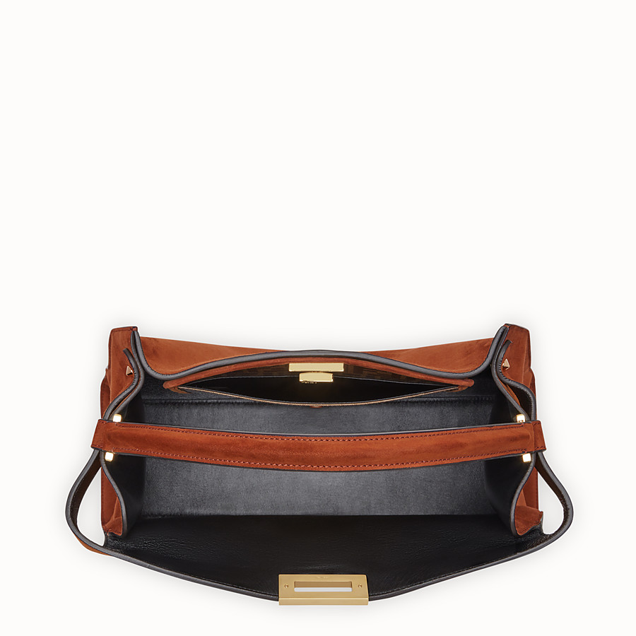 FENDI PEEKABOO X-LITE - Brown suede bag - view 5 detail