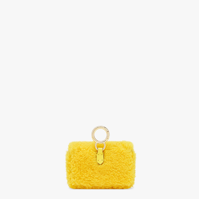 FENDI NANO BAGUETTE CHARM - Yellow sheepskin charm - view 3 detail