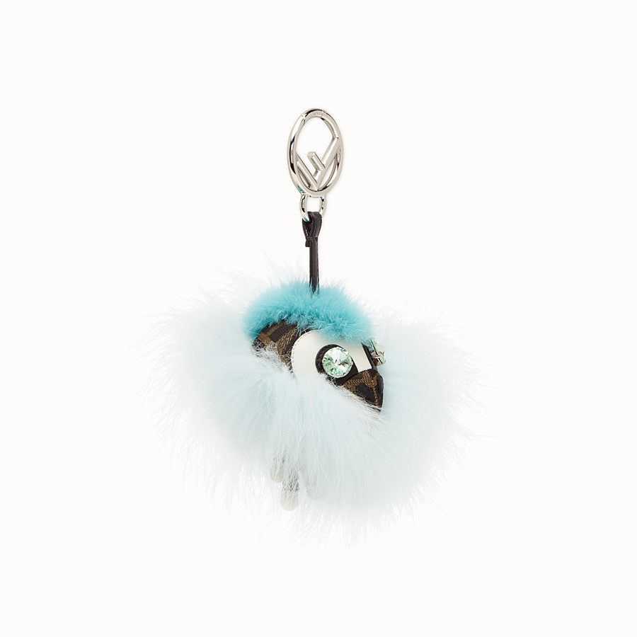 FENDI SPACE MONKEY - Pale blue fur charm - view 1 detail