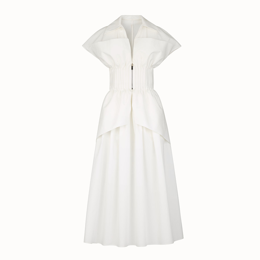 FENDI DRESS - White cotton dress - view 1 detail