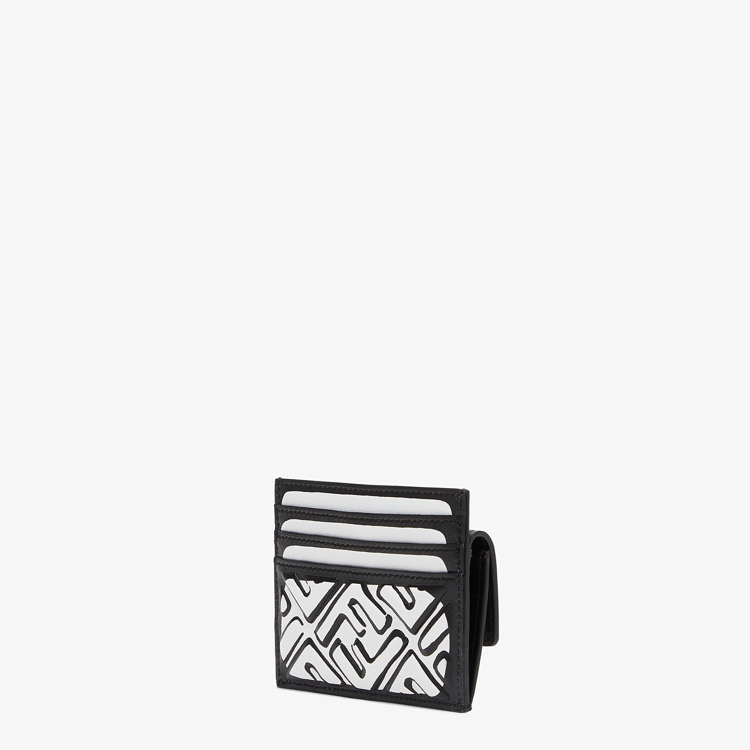 FENDI CARD HOLDER - White nappa leather card holder - view 2 detail