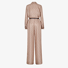 FENDI JUMPSUIT - Jumpsuit aus Seide in Beige - view 2 thumbnail