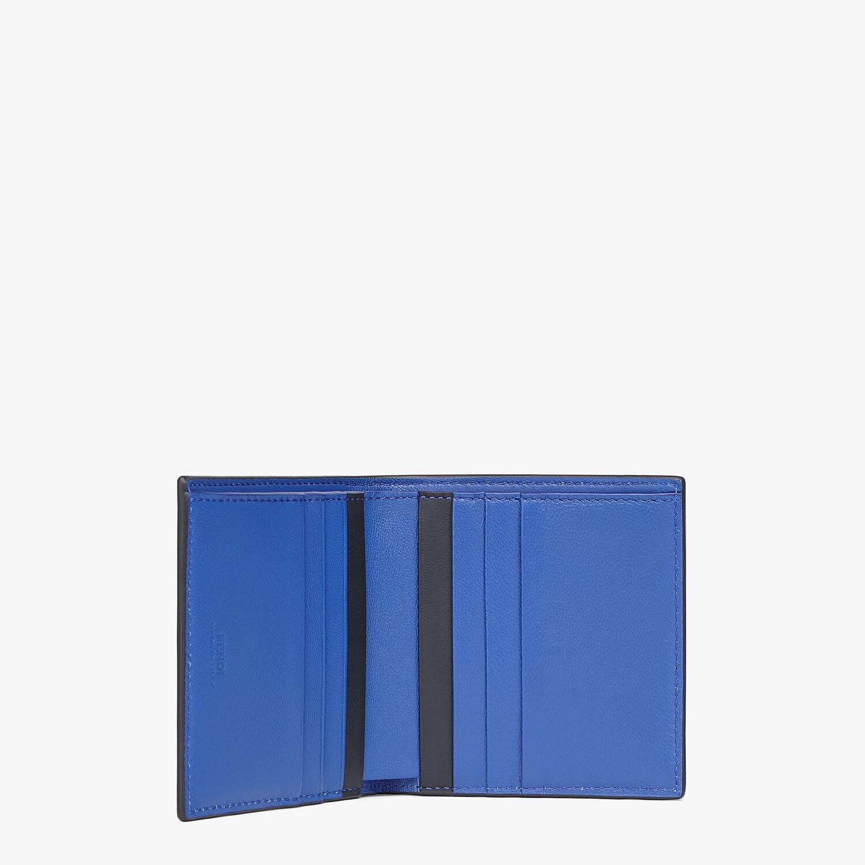 FENDI WALLET - Bi-fold wallet in blue nappa leather - view 3 detail