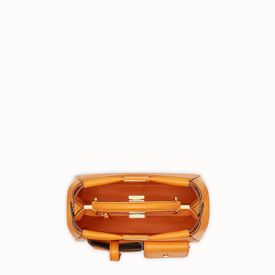 FENDI PEEKABOO MINI POCKET - Orange leather bag - view 4 detail
