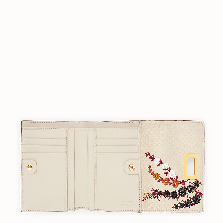 FENDI CONTINENTAL MEDIUM - White python wallet - view 5 detail