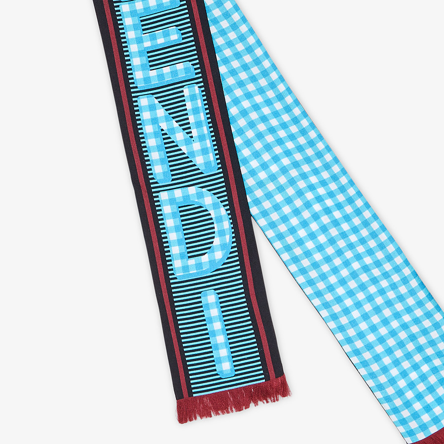 FENDI WRAPPY - Light blue silk bandeau - view 2 detail