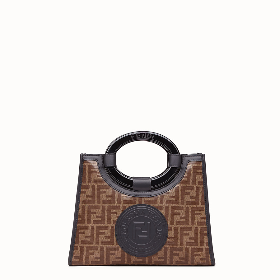FENDI RUNAWAY SHOPPER - Shopper in brown fabric - view 1 detail