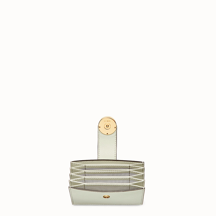 FENDI CARD HOLDER - Green leather gusseted card holder - view 4 detail
