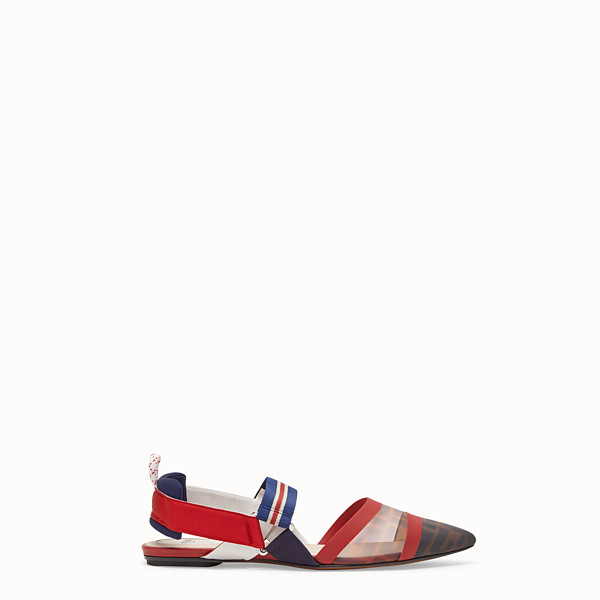 FENDI SABOT - Slingback in rete tecnica multicolor - vista 1 thumbnail piccola