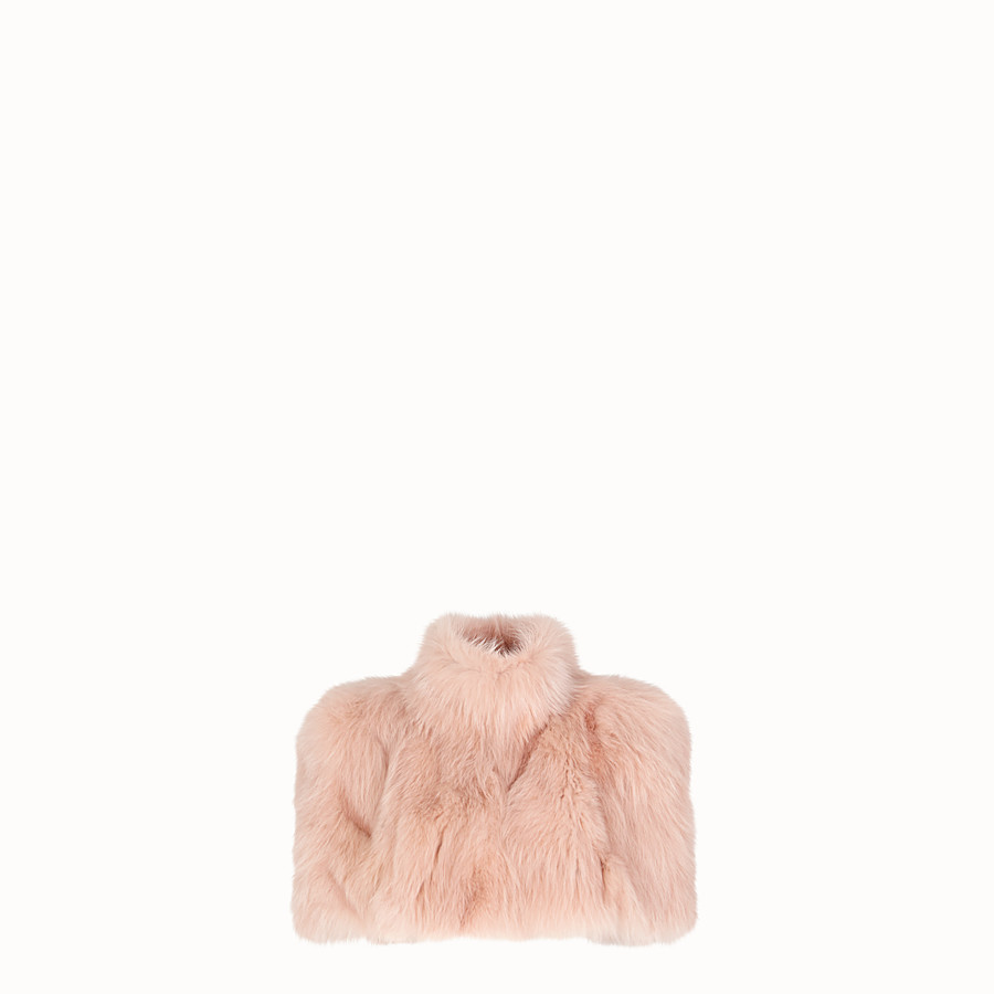 FENDI CAPE - Pink fur cape - view 1 detail
