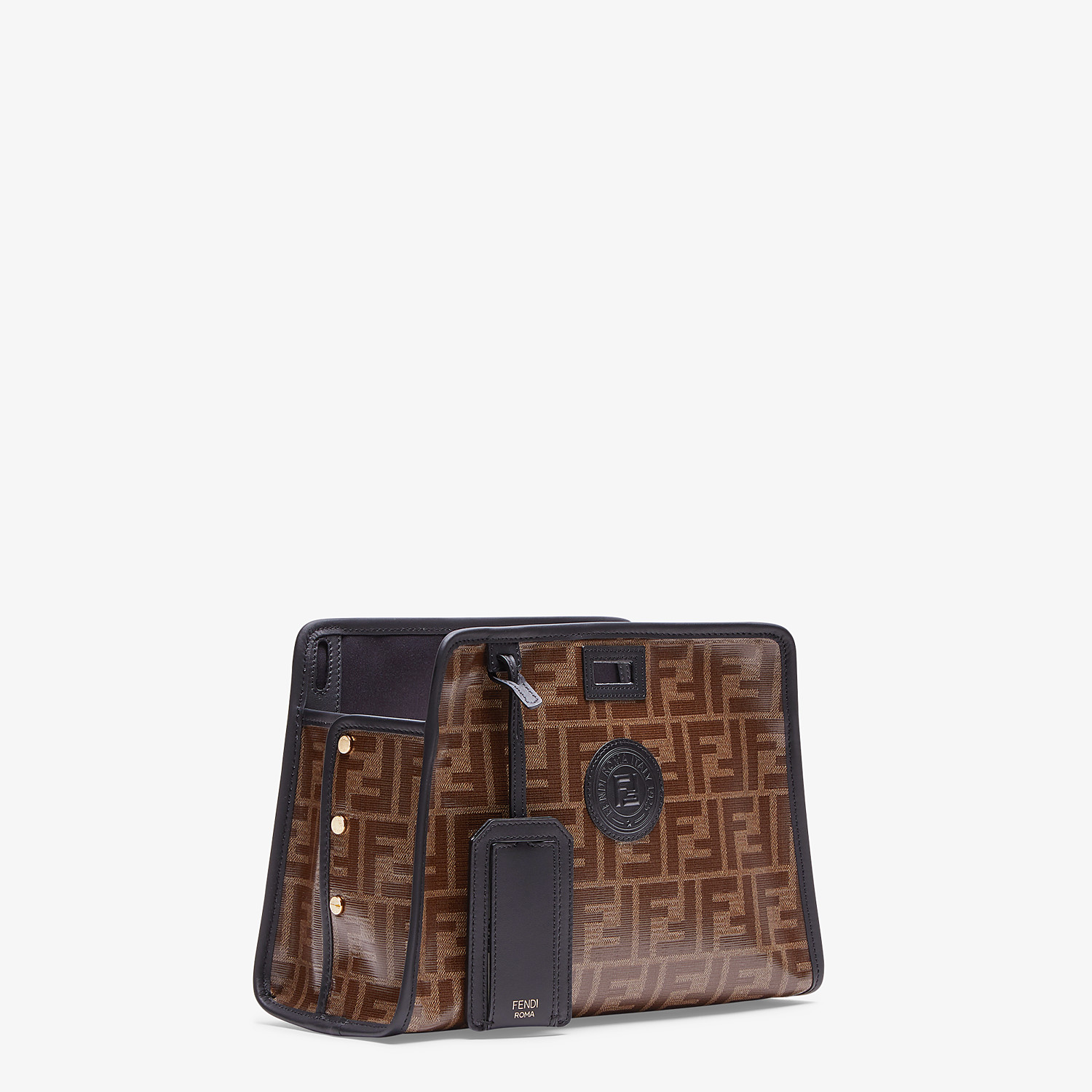 FENDI SMALL PEEKABOO DEFENDER - Peekaboo cover in brown fabric - view 2 detail