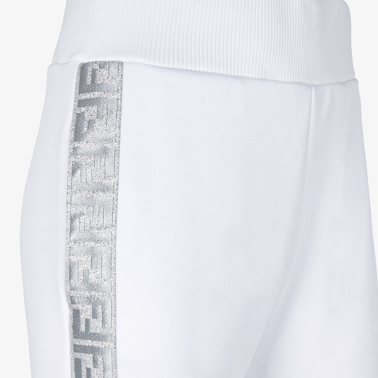 FENDI TROUSERS - White jersey jogging trousers - view 3 detail