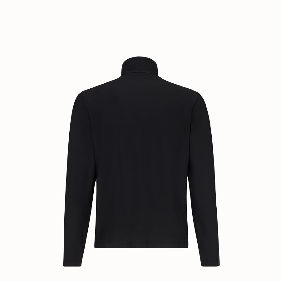 FENDI TURTLENECK - Black jersey jumper - view 2 detail