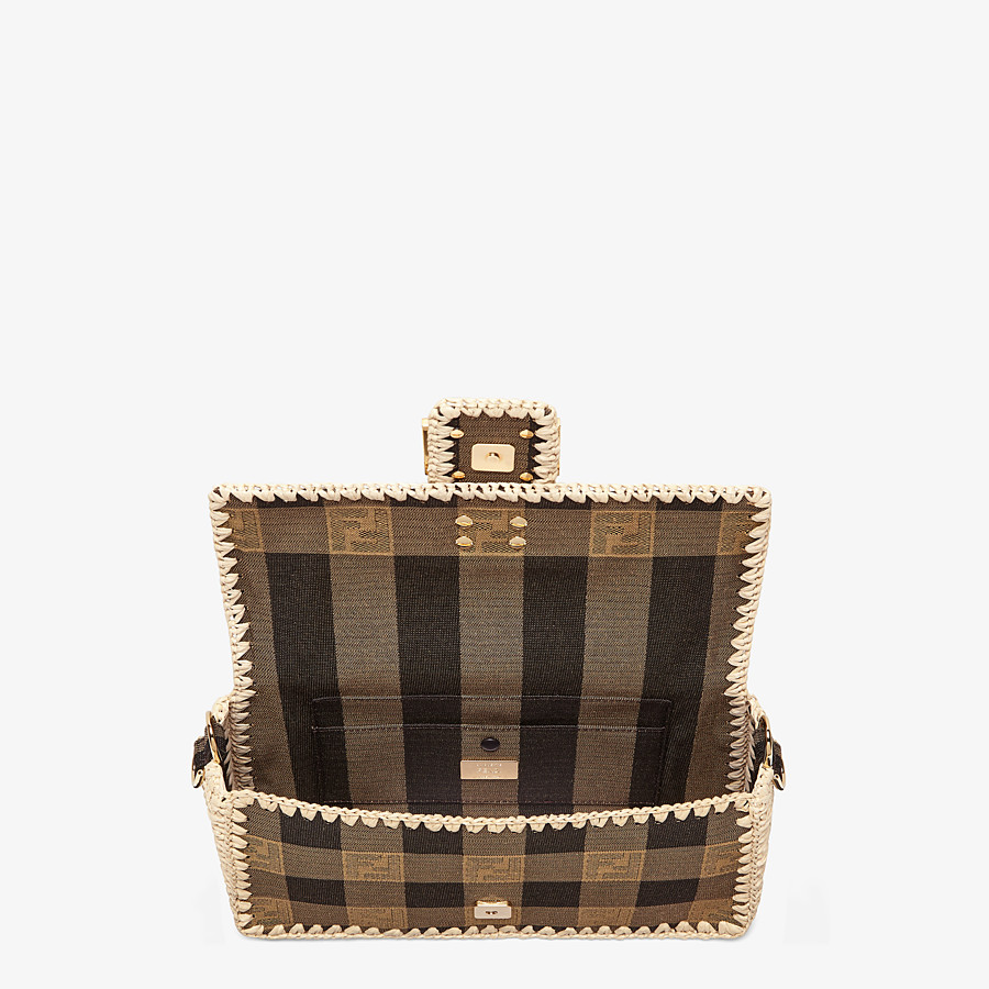 FENDI BAGUETTE - Brown fabric bag - view 5 detail