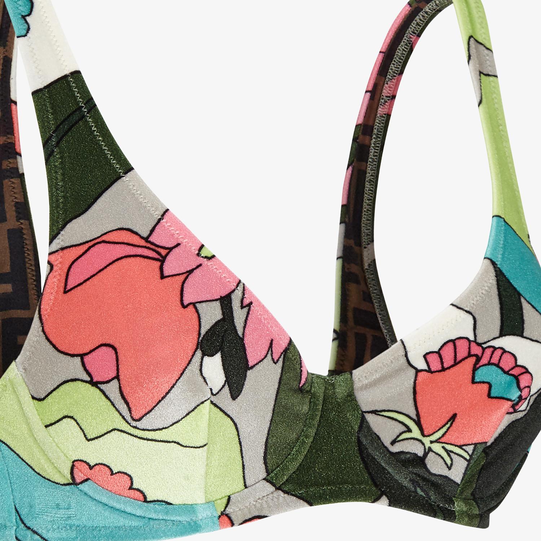 FENDI BIKINI - Multicolor chenille bikini - view 3 detail