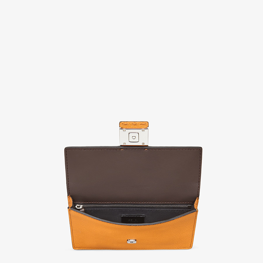 FENDI BAGUETTE POUCH - Orange leather bag - view 4 detail