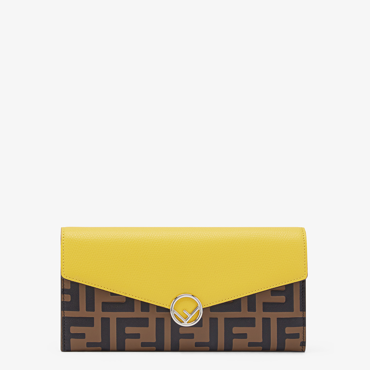 FENDI CONTINENTAL - Brown leather wallet - view 1 detail