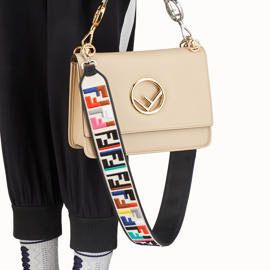 FENDI STRAP YOU - Leather and canvas shoulder strap - view 2 detail