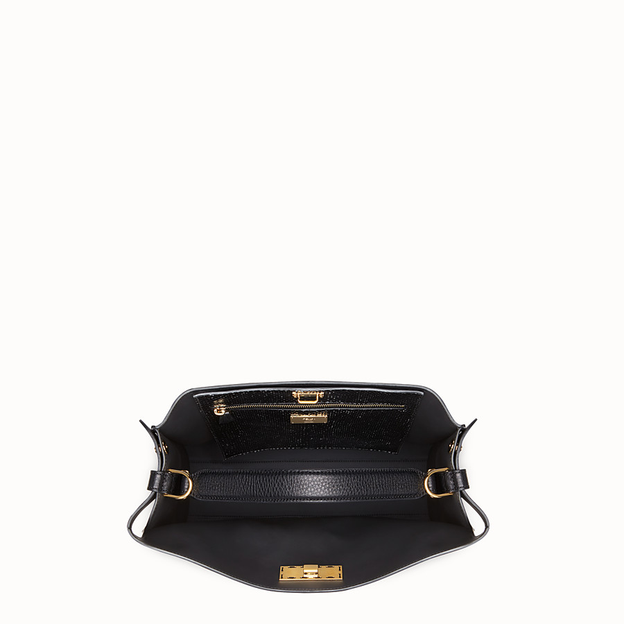 FENDI PEEKABOO X-LITE FIT - Sac en cuir romain noir - view 5 detail