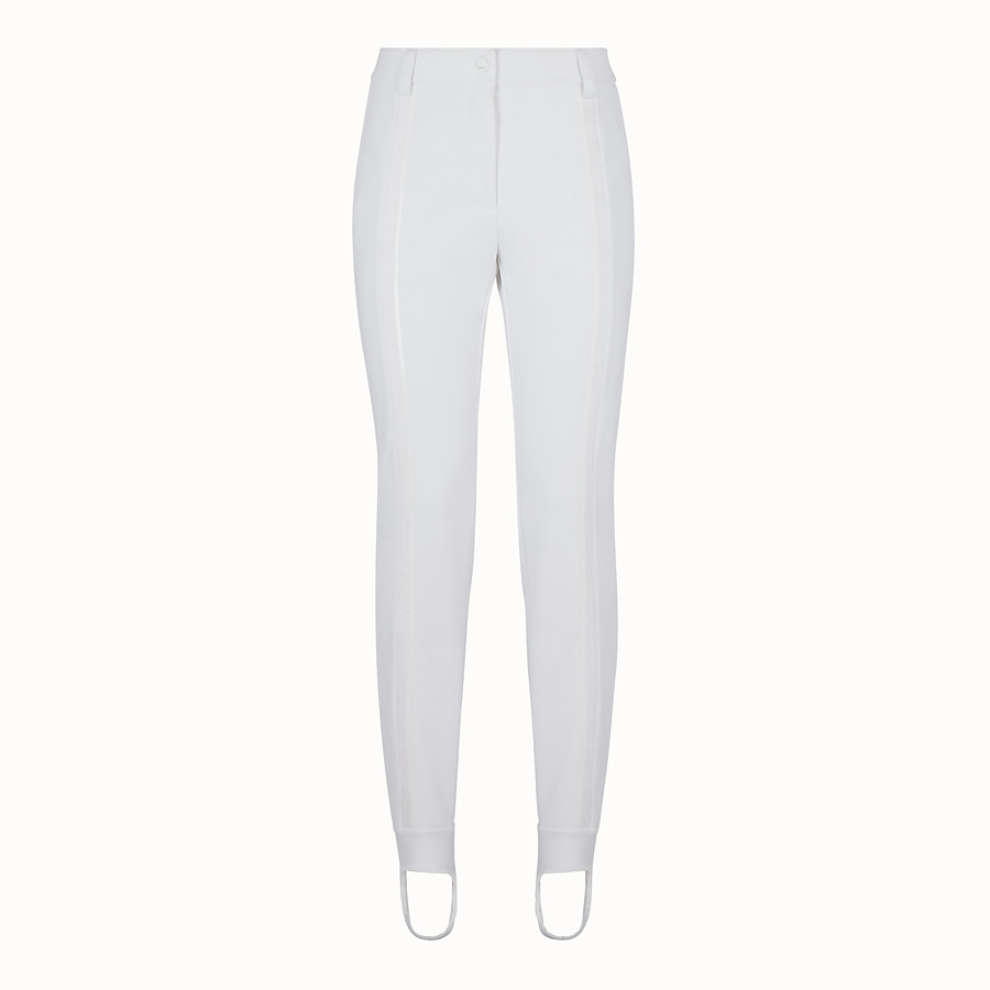 FENDI LEGGINGS - White tech fabric trousers - view 1 detail