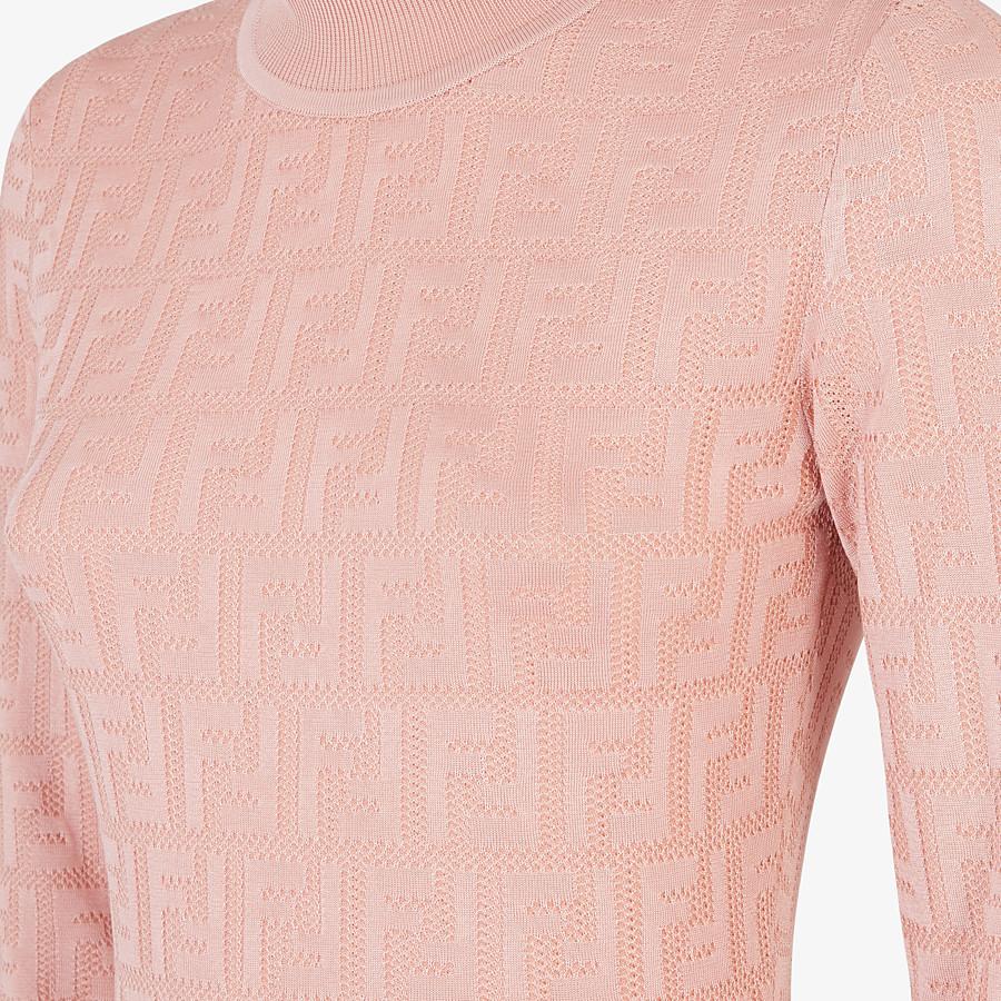 FENDI DRESS - Pink viscose dress - view 3 detail