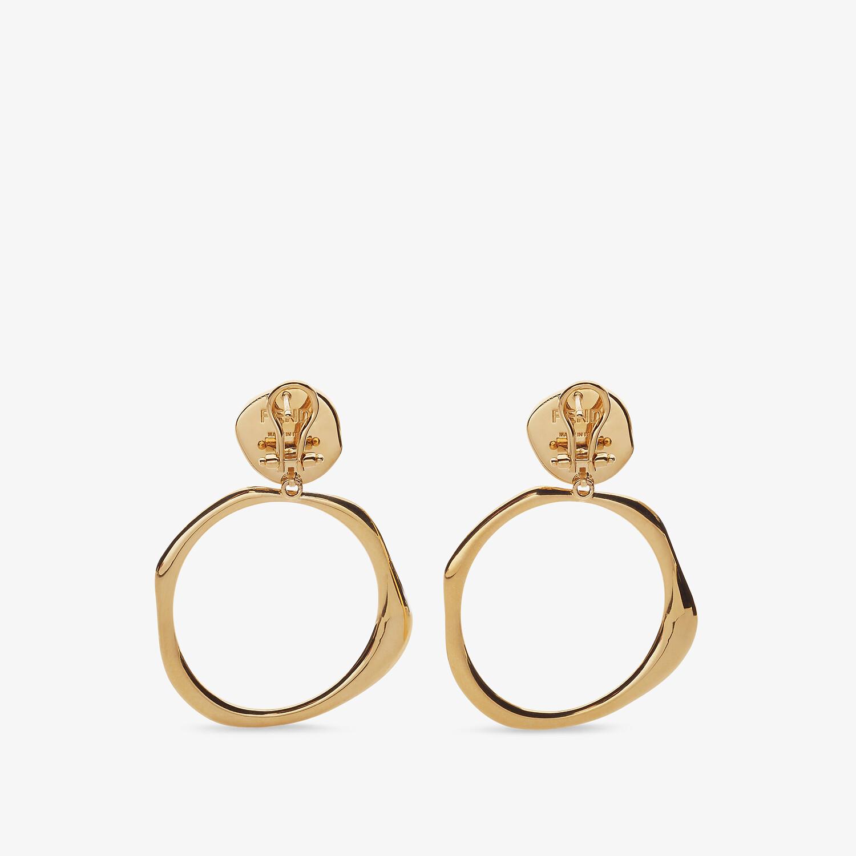 FENDI KARLIGRAPHY EARRINGS - Gold-colored earrings - view 2 detail