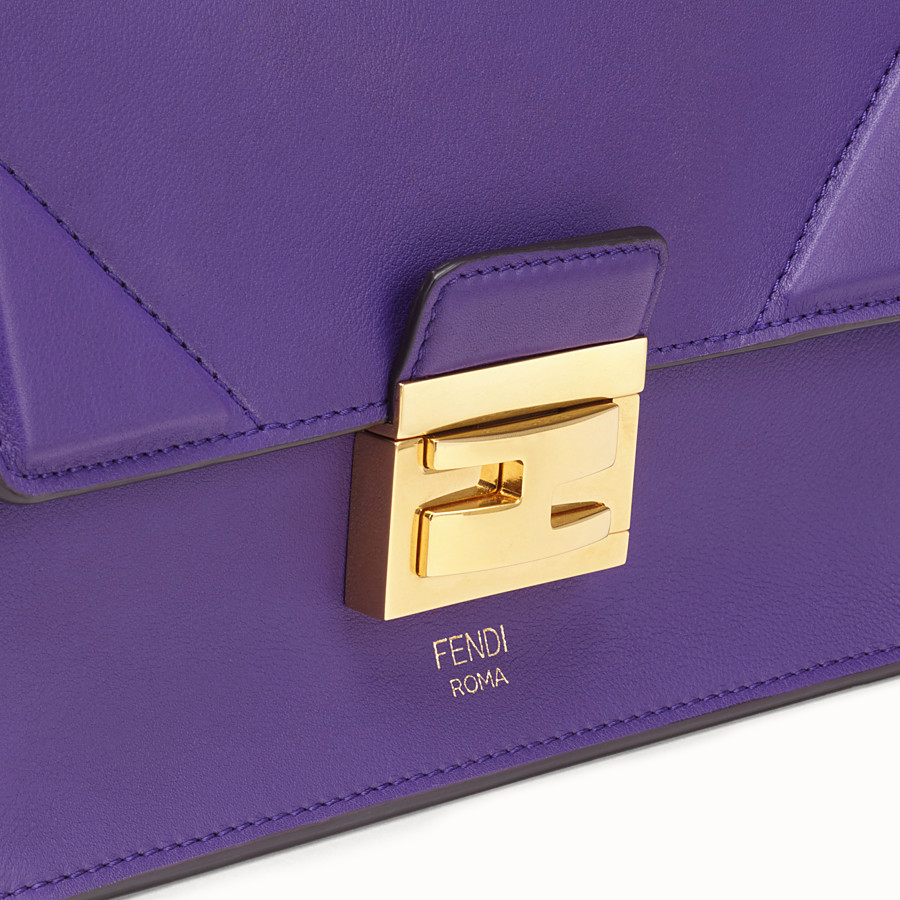 FENDI KAN U SMALL - Purple leather mini-bag - view 6 detail