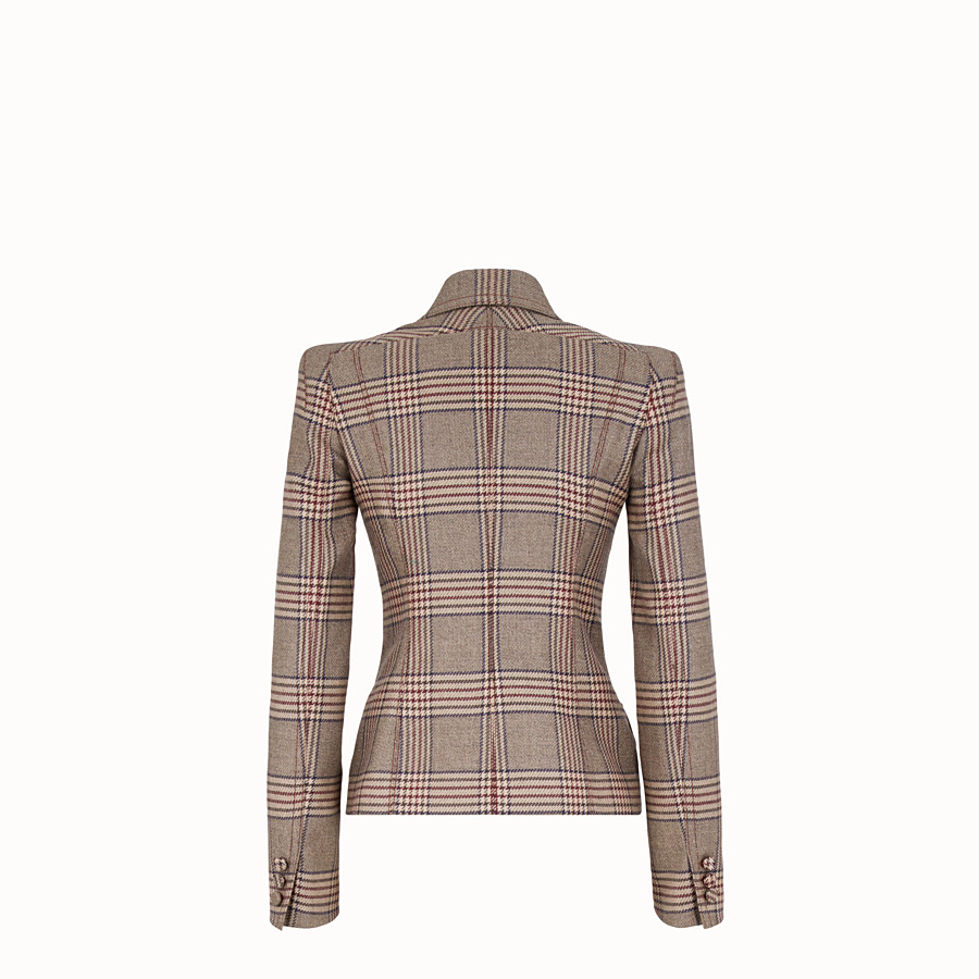 FENDI JACKET - Prince of Wales check wool jacket - view 2 detail