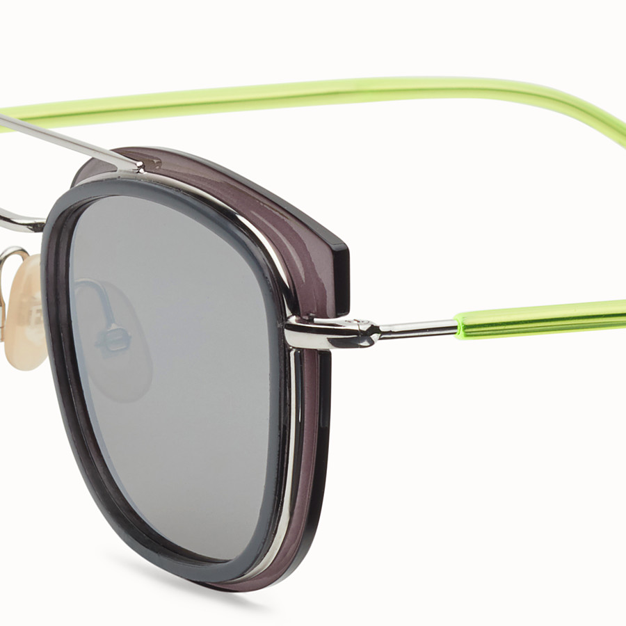 FENDI FENDI GLASS - Grey and palladium sunglasses - view 3 detail