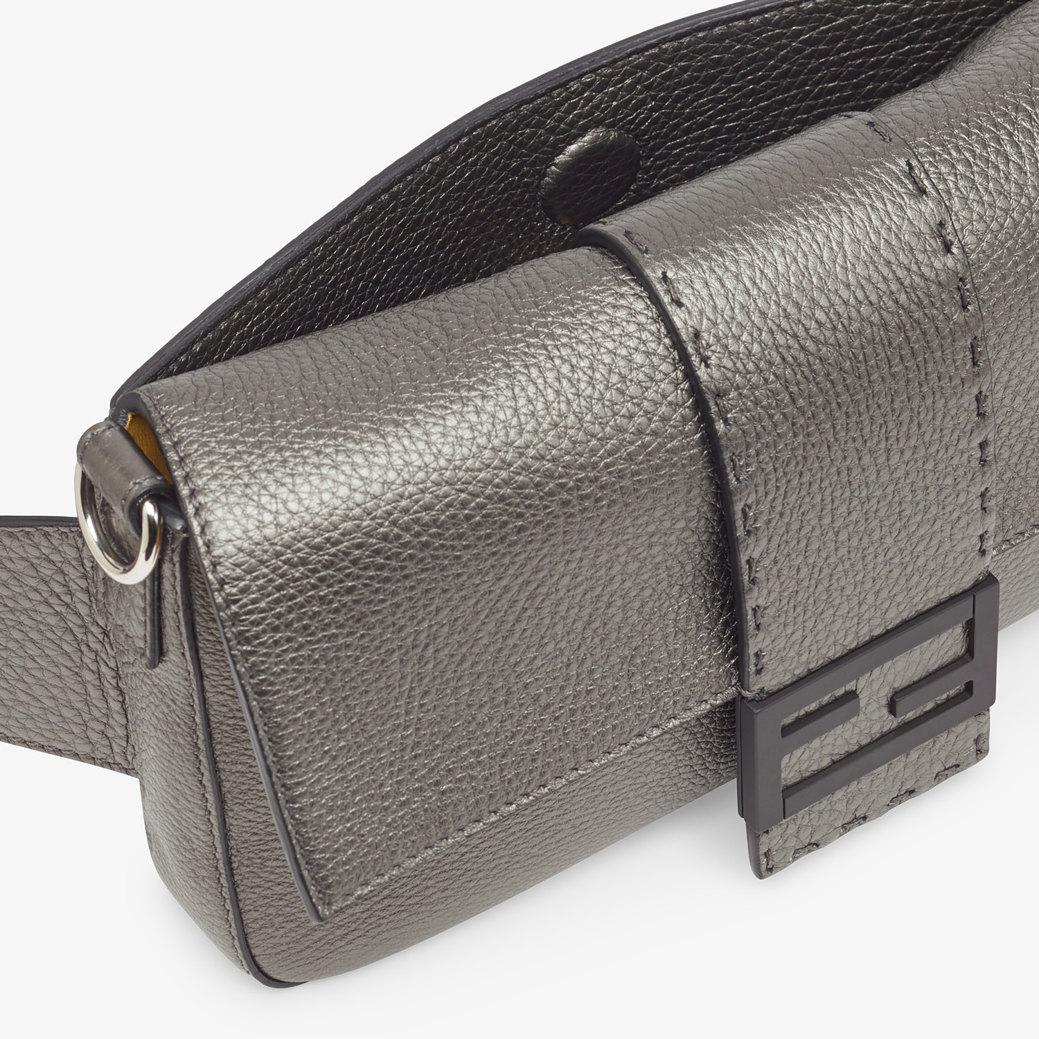 FENDI BAGUETTE - Grey leather bag - view 6 detail