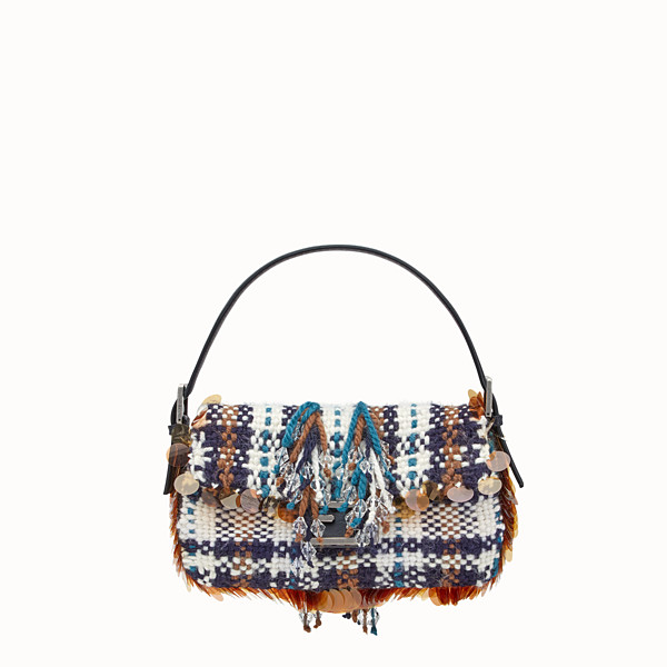 FENDI BAGUETTE - Tartan boiled wool bag - view 1 small thumbnail